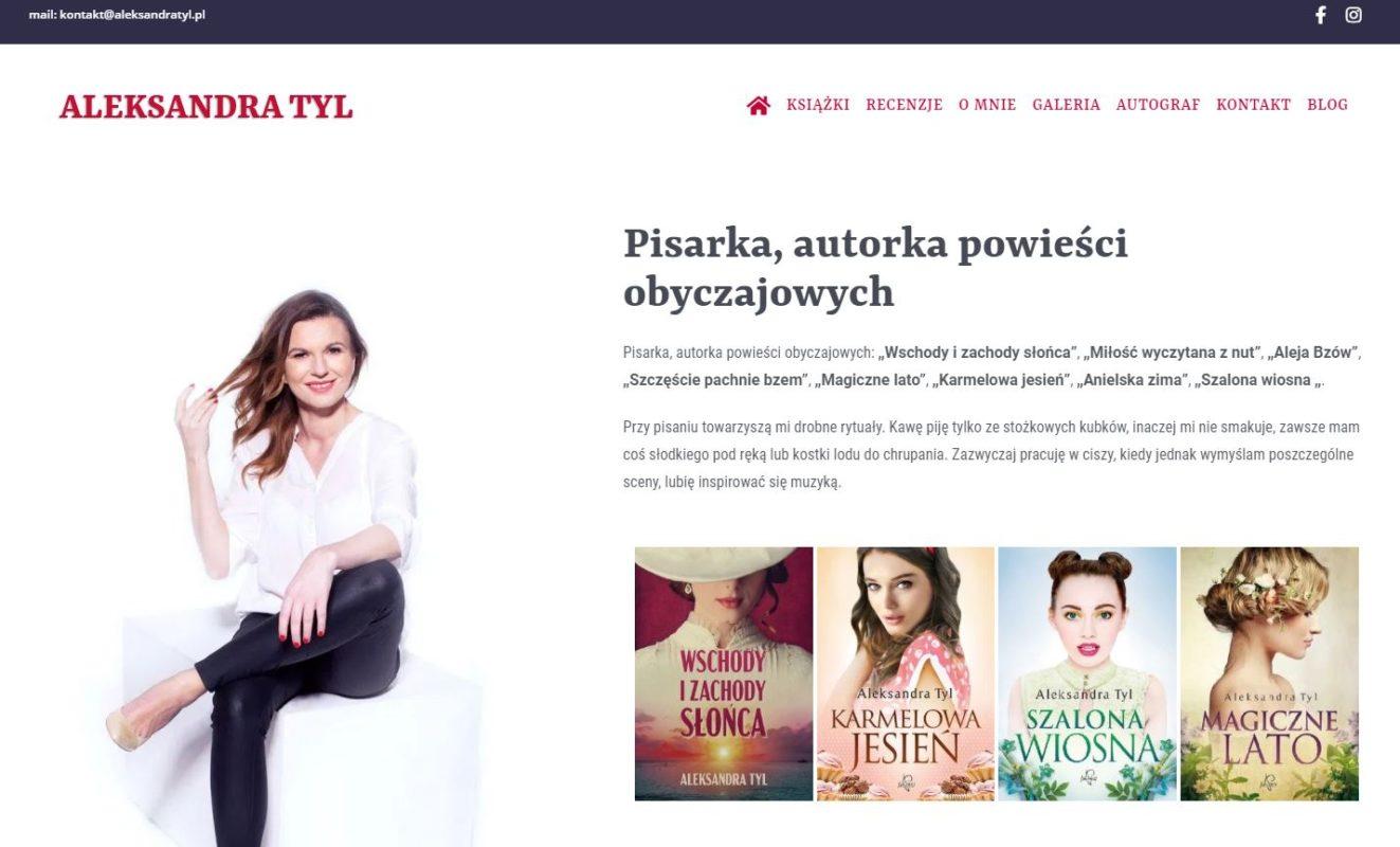 Strona autorska Aleksandry Tyl