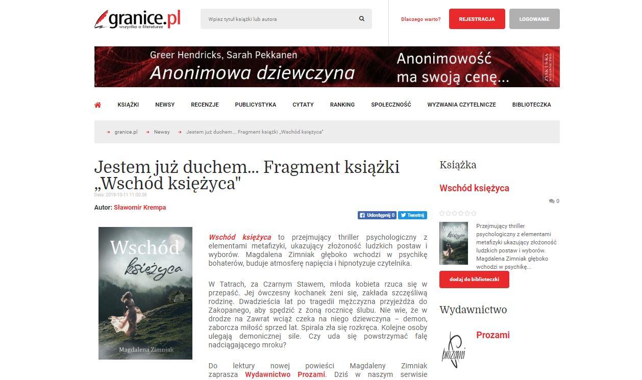 """""""Wschód księżyca"""" Granice.pl"""